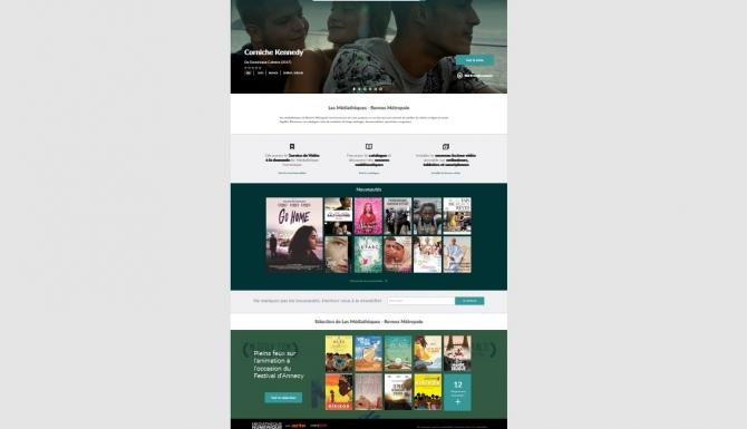 Page d'accueil Médiathèque numérique.