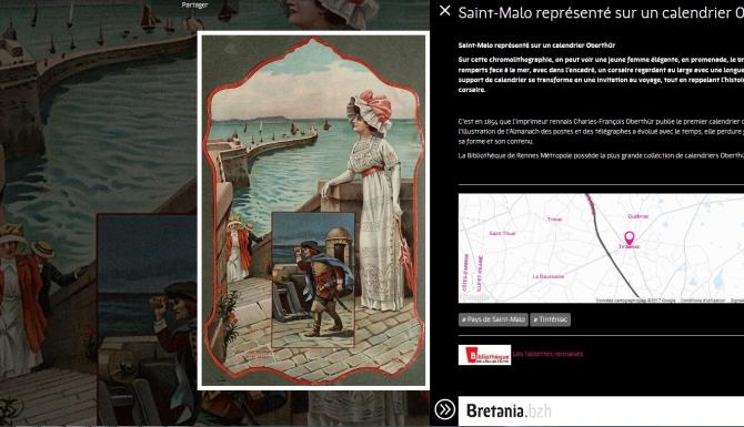 Saint-Malo représenté sur un calendrier Oberthür