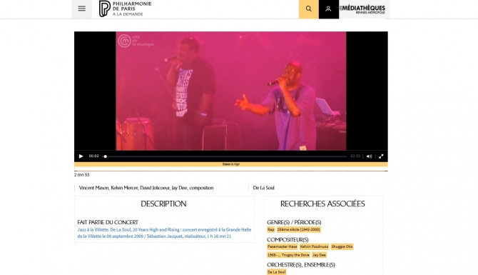 Extrait d'une vidéo de concert