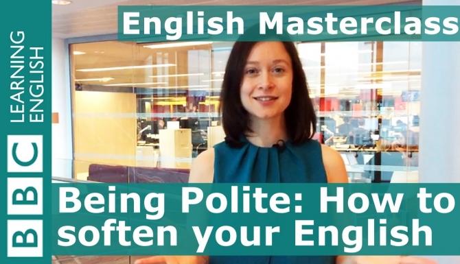 Extrait d'un cours vidéo de la chaîne BBC English.