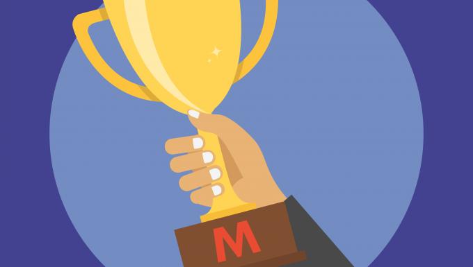 Illustration d'une main portant un trophée.