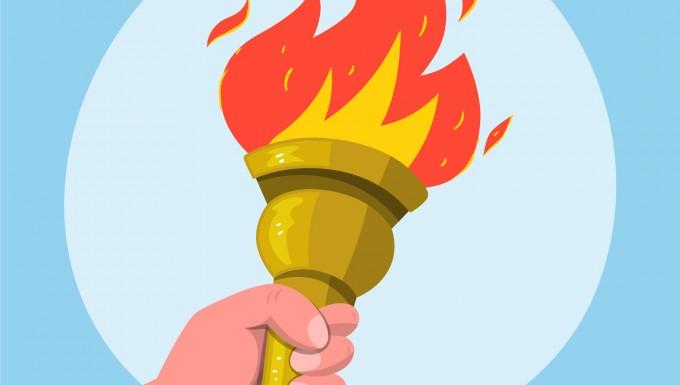 Dessin de la flamme olympique