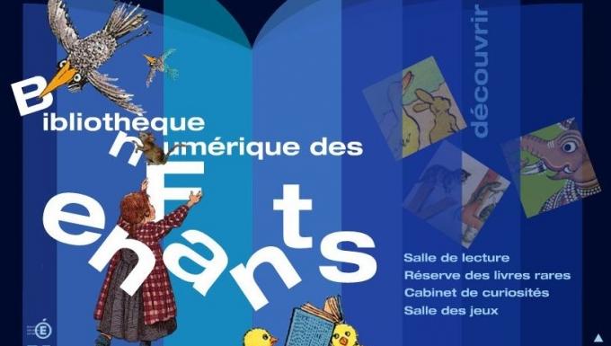 Page d'accueil du site Bibliothèque numérique des enfants de la BnF
