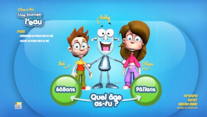 3 personnages : Noé, Clara et le robot Robby