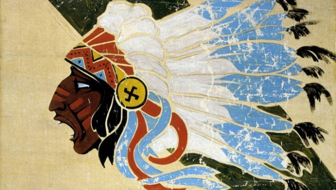 Insigne à la tête de Sioux