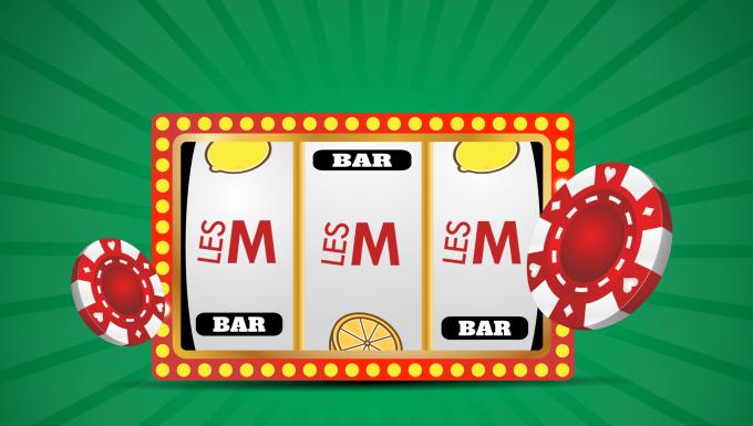 roulette de casino sur laquelle des logos LesM apparaissent