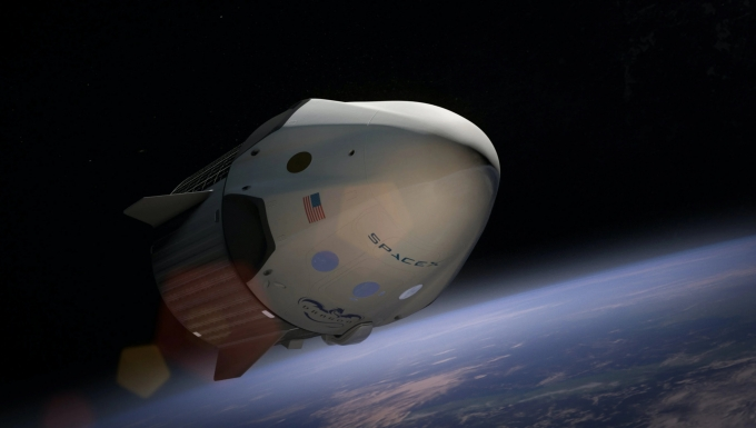 Photo de la navette SpaceX
