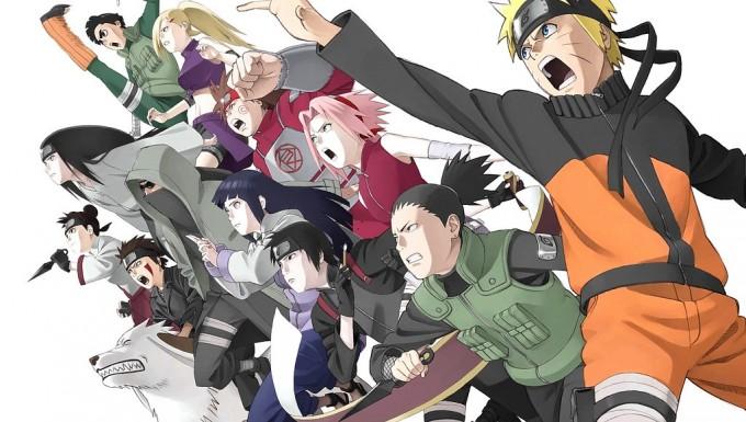 Les personnages de Naruto se lançant en action
