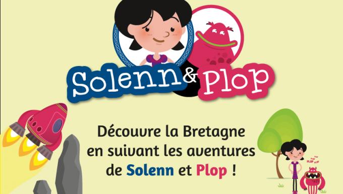 Vignette en couleur présenantn les deux personnages de la websérie : une petite fille et eun extraterrestre.
