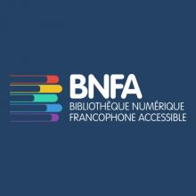 Logo BNFA : lettres blanches sur fond bleu marine