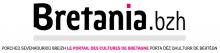 Logo Bretania.bzh : Lettres noires et roses sur fond blanc