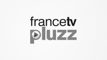 Logo Francetv pluzz : lettres grises et noires sur fond blanc