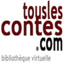 Logo Touslescontes.com : lettres bordeaux et noires sur fond blanc