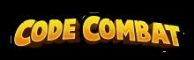 Logo du site CodeCombat. Lettres stylisées jaunes