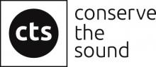 Logo CTS : lettres stylisées blanches intégrées dans un cercle de couleur noir.