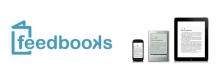 Logo Feedbooks : lettres stylisées bleu ciel sur fond blanc