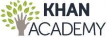 Logo de la Khan Academy. Une main en forme de tronc d'arbre jonché de feuilles.