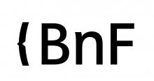 Lettres stylisées noires sur fond blanc