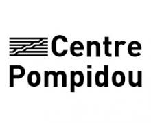 Logo Centre Pompidou. Lettres stylisées noires sur fond blanc.