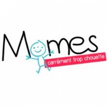 Logo Momes.net : Lettres stylisées noires sur fond blanc.