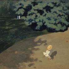 """""""Le ballon"""" ou """"Coin de parc avec enfant jouant au ballon"""" de Félix Vallotton."""