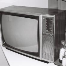 vieille télévision. Photo en noir et blanc