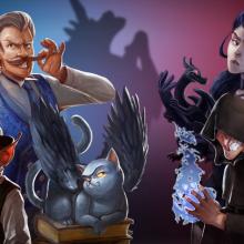 Illustration présenatnt l'ensemble des personnages extraits du jeu.