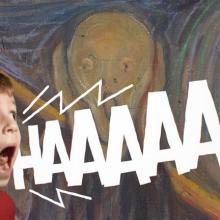 Un enfant imitant le cri du tableau de Munch