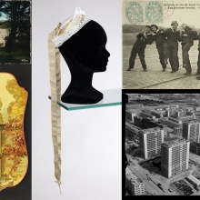 Montage de photo d'items extraits des collection du Musée de Bretagne.