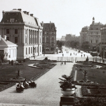 L'avenue Janvier au début du XXe siècle, conduisant de la gare au jardin Saint-Georges