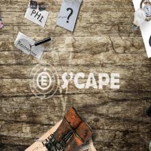 Logo Scape entouré d'une boussole, machine à écrire, ampoule, loupe et verrou