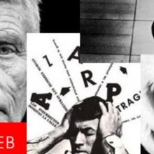 4 photos en noir et blanc d'artistes
