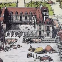 Vue dessinée du dessus du Château de Versailles