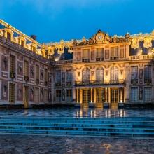 Vue de la cour du Château de Versailles.