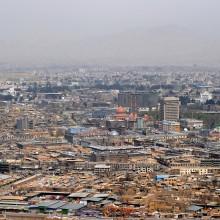 Vue de la ville de Kaboul.